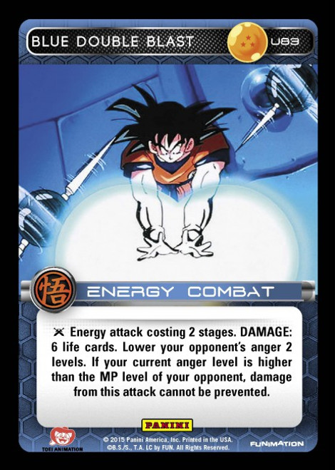 Dragon Ball Z Movie Collection Uncommon Foil Blue Double Blast U83