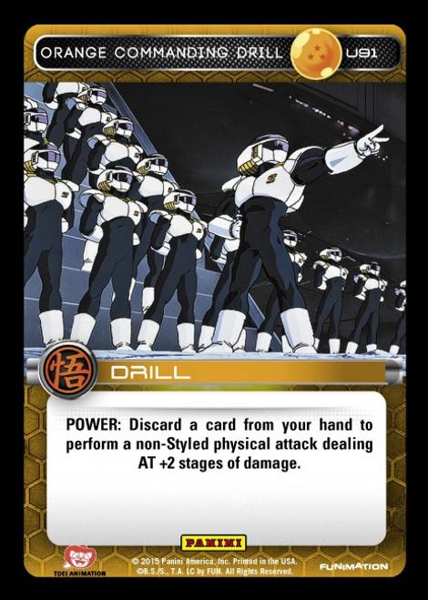 Dragon Ball Z Movie Collection Uncommon Foil Orange Commanding Drill U91
