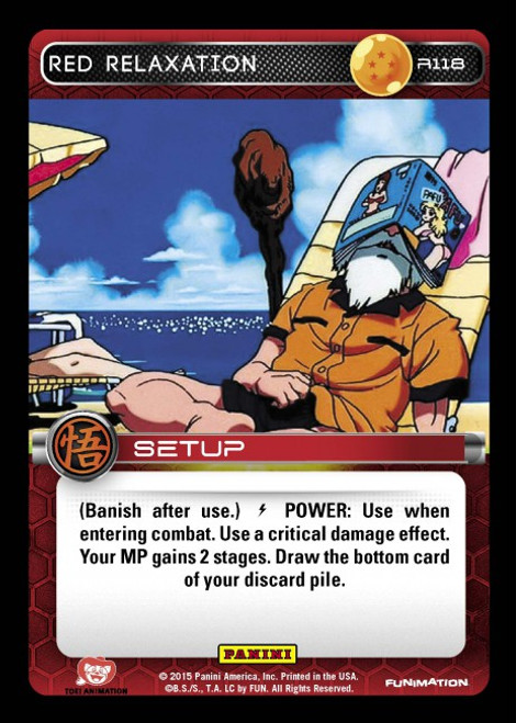 Dragon Ball Z CCG Movie Collection Rare Foil Red Relaxation R118