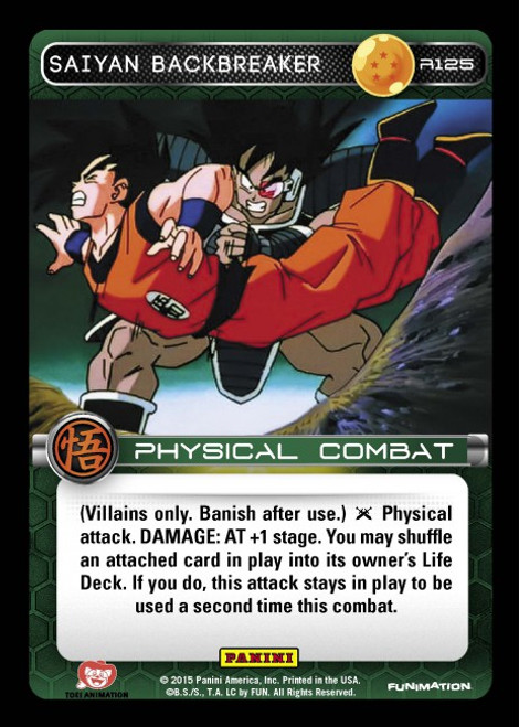 Dragon Ball Z CCG Movie Collection Rare Foil Saiyan Backbreaker R125