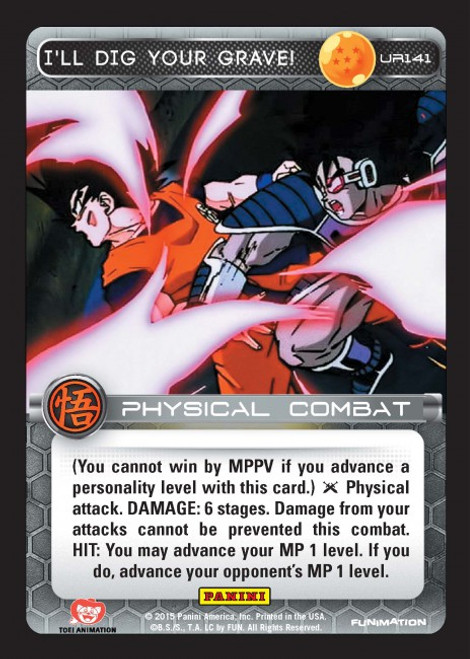 Dragon Ball Z Movie Collection Ultra Rare I'll Dig Your Grave UR141