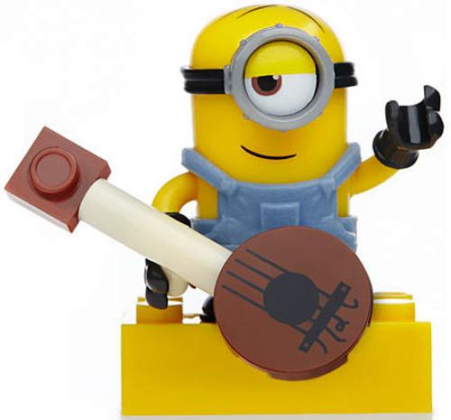 Mega Bloks Mystery Minions Series 3 Minion Stuart 1.5-Inch Minifigure [with Guitar]