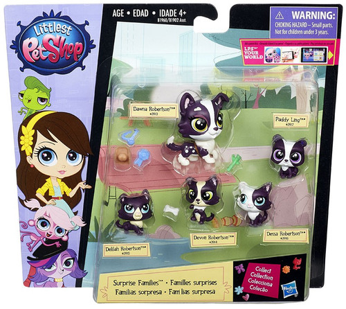 Littlest Pet Shop Surprise Families Puppies Mini Pet 5-Pack