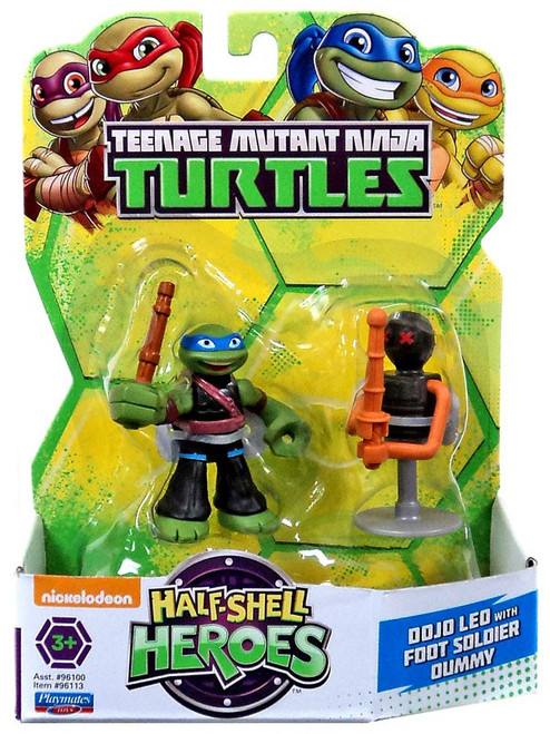 Teenage Mutant Ninja Turtles TMNT Half Shell Heroes Dojo Leo with Foot Soldier Dummy Action Figure