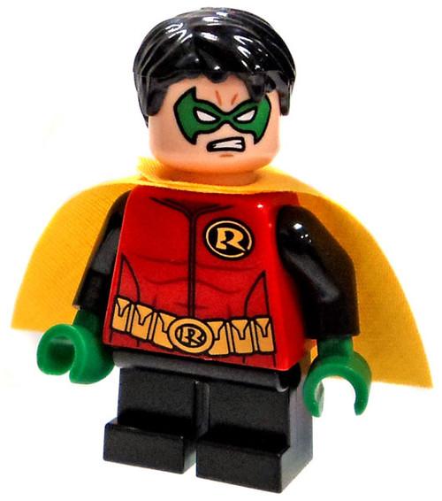LEGO DC Universe Batman Robin With Yellow Cape Minifigure [No Staff Loose]