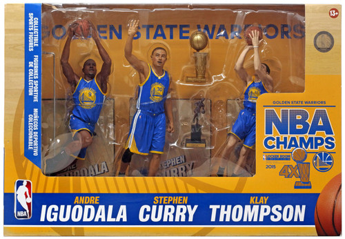 McFarlane Toys NBA Sports Picks Golden State Warriors Action Figure 3-Pack [2015 Champions]