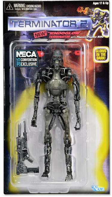 NECA Terminator 2 Retro Endoglow Endoskeleton Exclusive Action Figure [Glows in the Dark]