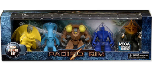 NECA Pacific Rim Replica Box Set Exclusive 3-Inch Mini Figure 4-Pack