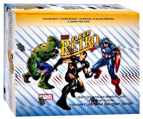 Marvel 2015 Fleer Retro Trading Card Box