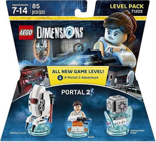 LEGO Dimensions Portal 2 Sentry Turret, Chell & Companion Cube Level Pack #71203