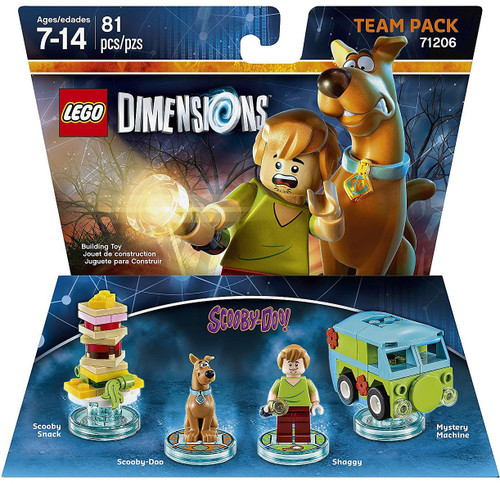 LEGO Dimensions Scooby-Doo! Scooby Snack, Scooby, Shaggy & Mystery Machine Team Pack #71206