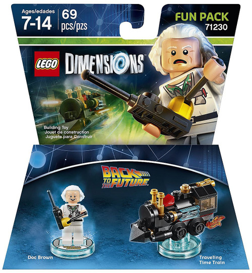 LEGO Dimensions Back to the Future Doc Brown & Traveling Time Train Fun Pack #71230