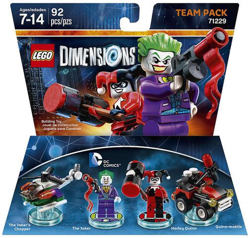 LEGO Dimensions DC Comics Joker Chopper, Joker, Harley & Quinn Mobile Team Pack #71229