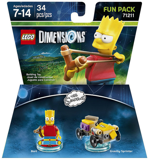 LEGO Dimensions The Simpsons Bart & Gravity Sprinter Fun Pack #71211