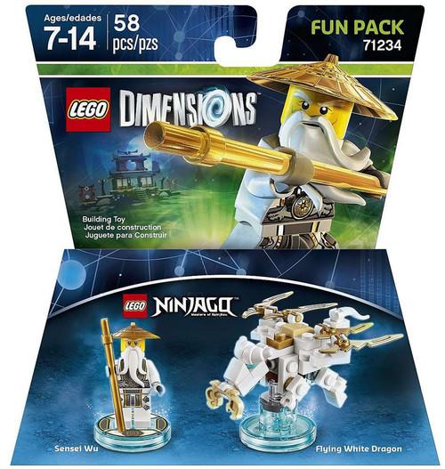 LEGO Dimensions Ninjago Sensei Wu & Flying White Dragon Fun Pack #71234