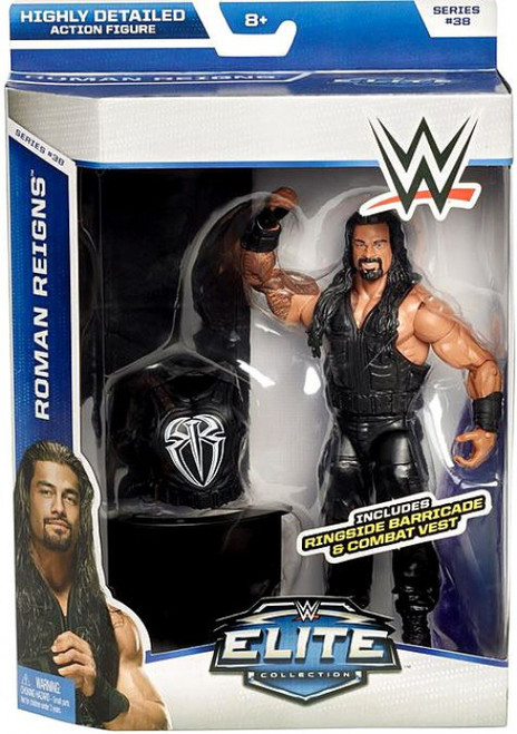 WWE Wrestling Elite Collection Series 38 Roman Reigns Action Figure [Ringside Barricade & Combat Vest]