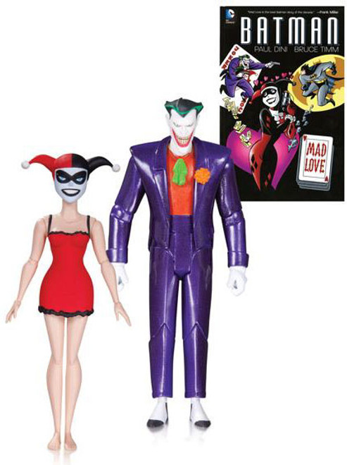Batman The Animated Series Classic Joker & Nightgown Harley with Book Action Figure 2-Pack