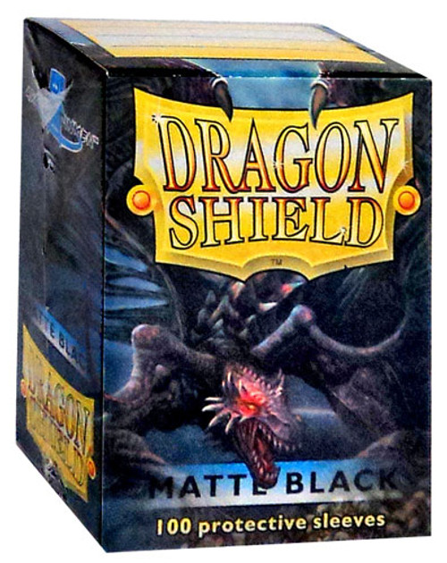 Card Supplies Dragon Shield Matte Black Standard Card Sleeves [100 Count]