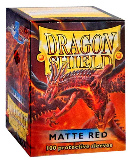 Card Supplies Dragon Shield Matte Red Standard Card Sleeves [100 Count]