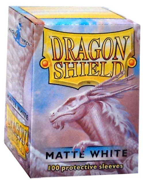 Card Supplies Dragon Shield Matte White Standard Card Sleeves [100 Count]