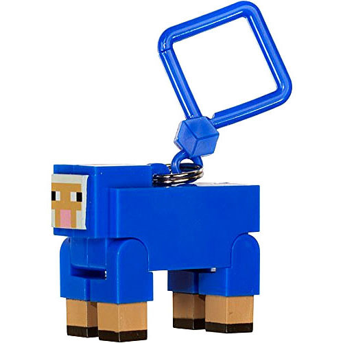 Minecraft Hangers Series 1 Blue Sheep 3-Inch Keychain [Chase Variant]