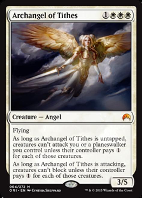 MtG Origins Mythic Rare Archangel of Tithes #4