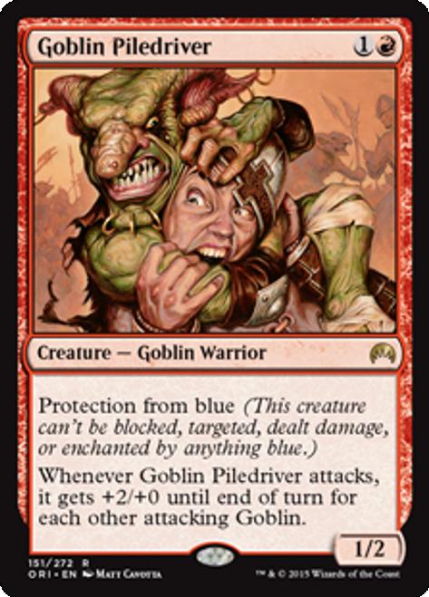 MtG Origins Rare Goblin Piledriver #151