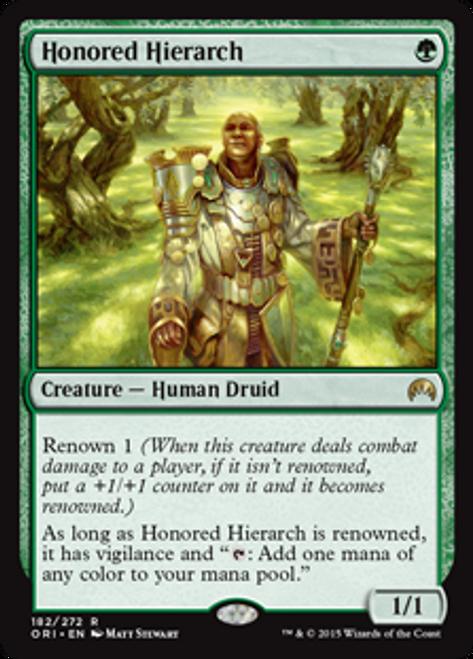MtG Origins Rare Honored Hierarch #182