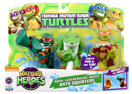 Teenage Mutant Ninja Turtles TMNT Half Shell Heroes Raph, Leatherhead & Mikey Bath Squirters
