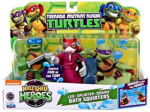 Teenage Mutant Ninja Turtles TMNT Half Shell Heroes Leo, Splinter & Donnie Bath Squirters
