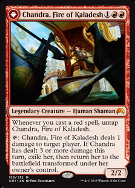 MtG Origins Mythic Rare Foil Chandra, Fire of Kaladesh / Chandra, Roaring Flame #135