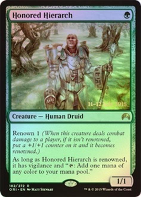 MtG Prerelease & Release Promo Honored Hierarch [Magic Origins Prerelease]