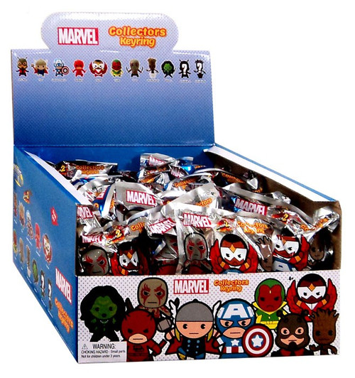 3D Figural Keyring Marvel Series 2 Mystery Box [24 Packs]
