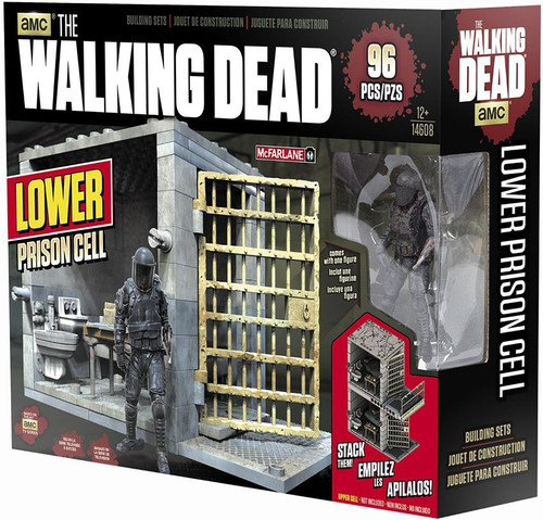 McFarlane Toys The Walking Dead LOWER Prison Cell Building Set