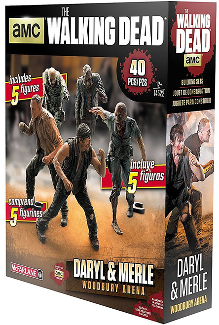 McFarlane Toys The Walking Dead Merle & Daryl Dixon Woodbury Arena 5-Pack Building Set