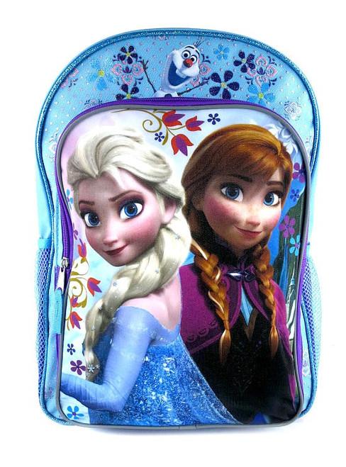 Disney Frozen Anna, Elsa & Olaf Backpack [Blue & Purple]