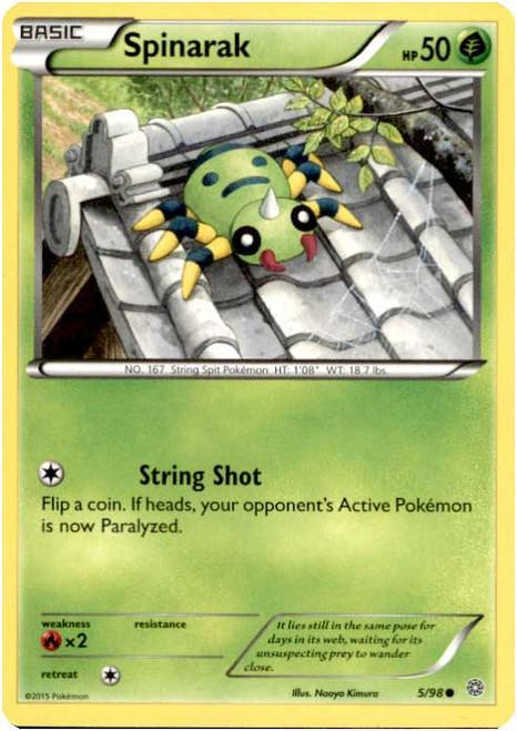 Pokemon X & Y Ancient Origins Common Spinarak #5
