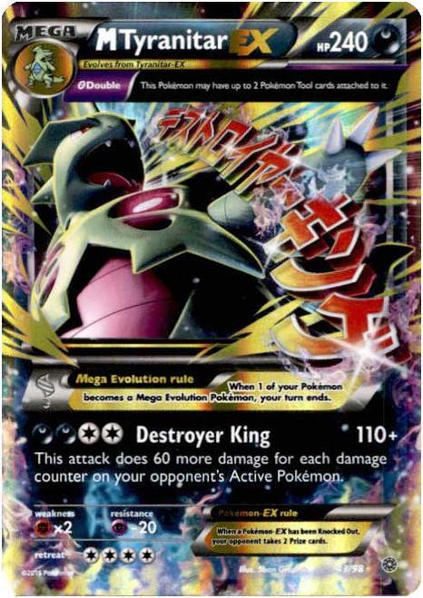 Pokemon X & Y Ancient Origins Ultra Rare M Tyranitar EX #43
