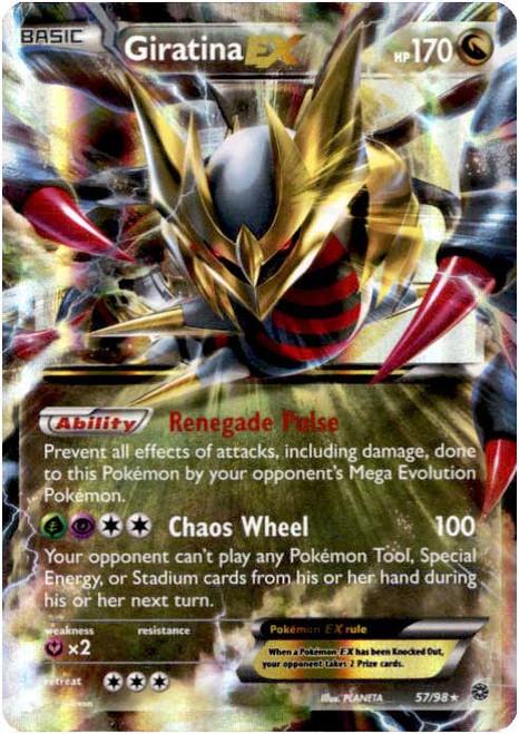 Pokemon X & Y Ancient Origins Ultra Rare Giratina EX #57
