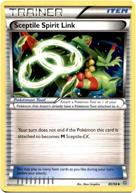 Pokemon X & Y Ancient Origins Uncommon Sceptile Spirit Link #80