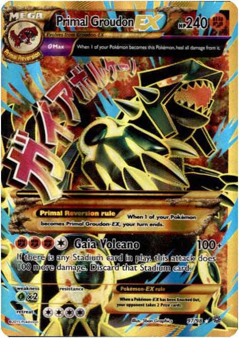 Pokemon X & Y Ancient Origins Ultra Rare Full Art Primal Groudon EX #97