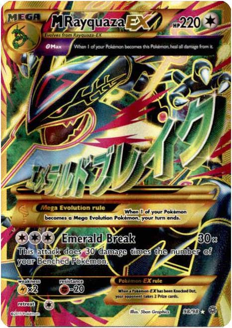 Pokemon X & Y Ancient Origins Ultra Rare M Rayquaza EX #98