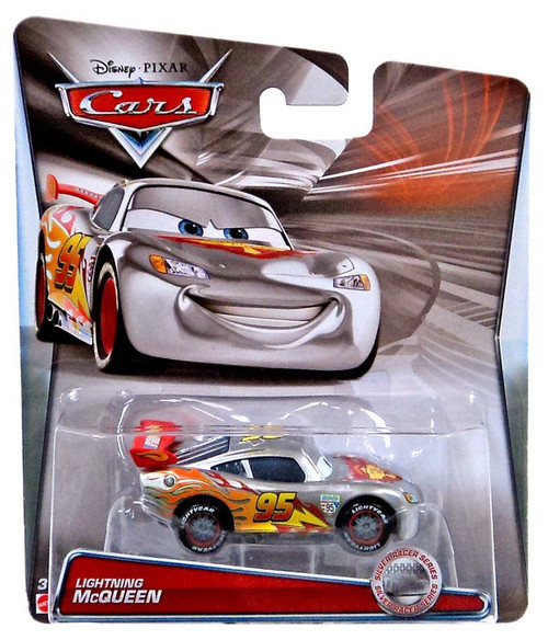 Disney / Pixar Cars Silver Racer Series Lightning McQueen Diecast Car