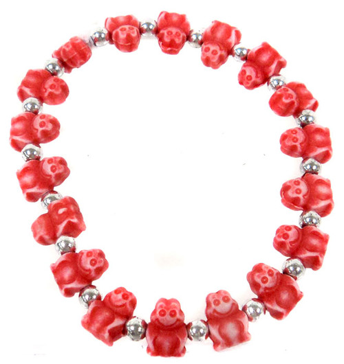 Frogz Red Frogs Bracelet