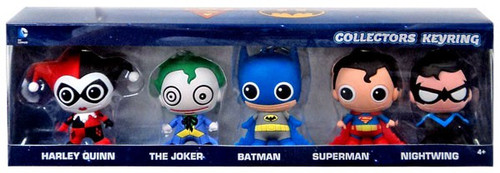 3D Figural Keyring DC Exclusive Collector 5-Pack