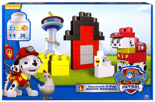 Paw Patrol Ionix Jr. Construct-A-Pup Rescue Marshall Building Set