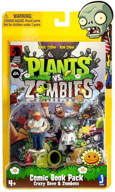 Plants vs. Zombies Comic Book Pack Crazy Dave & Zomboss Action Figure 2-Pack