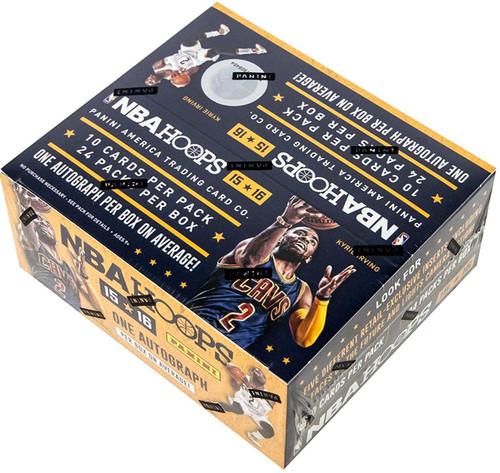 NBA Panini 2015-16 Hoops Basketball Trading Card RETAIL Box [24 Packs, 1 Autograph!]