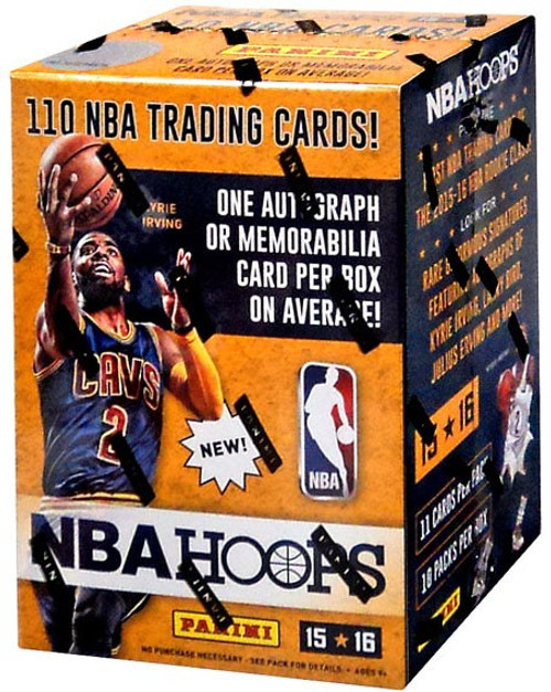 NBA Panini 2015-16 Hoops Basketball Trading Card BLASTER Box [10 Packs, 1 Autograph OR Memorabilia Card!]