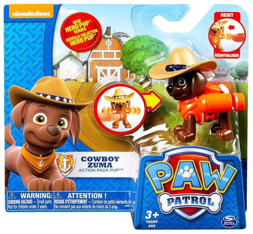 Paw Patrol Action Pack Pup Cowboy Zuma Figure